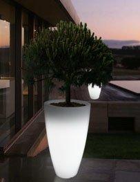 Pot de fleurs lumineux