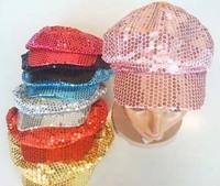 Женский берет New Ladies sequin newsboy cabbie hat cap visor beret