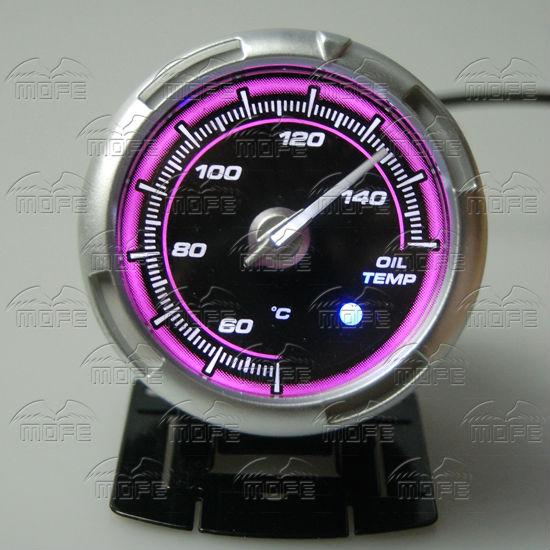 60MM Pink Blue LED Backlight Sensor + Stepping Motor Defi ADVANCE C2 Oil Temperature Temp Gauge Meter DSC_0368
