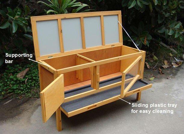 Plein air Cage pour lapinCages pour animauxID de produit593491301  ~ Cage Lapin Bois Interieur