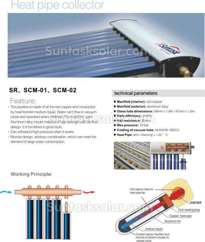 shc24 cpc solarkollektor suntask shc18 shc15 shc12 shc8. Black Bedroom Furniture Sets. Home Design Ideas
