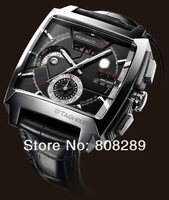 Наручные часы Hot Sell! Calibre 12 LS CAL2110.FC6257 Men's black dial stainless stee automatic movement Men's watches wristwatch gghh