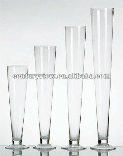 large trumpet shaped clear glass flower vases buy clear glass flower vases clear glass vase. Black Bedroom Furniture Sets. Home Design Ideas