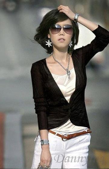 Новые Корея Топы женские 2 части сексуальные рубашки LY8104
