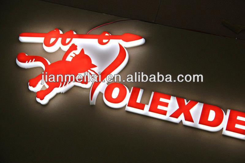 Acrylic company sign board for shops