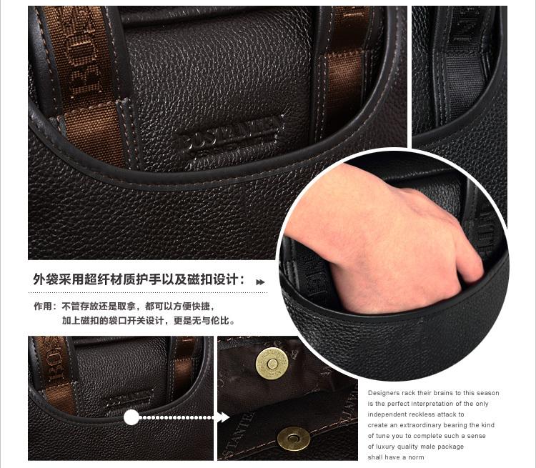 BOSTANTEN Продвижение Лучший Подарок Подлинная Мужчины Сумки Кожа Messenger Портфель Сумки # M10023