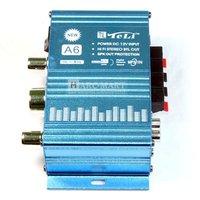 Аудио усилитель Mini Hi-Fi Audio Stereo Power Amplifier Car Motorcycle Boat Mini power amplifier 10pcs/lot #AM010