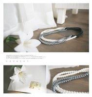 Ювелирное украшение для волос Bunk pearl elastic headband hair band hair rope also do bracelet Headwear hair ornament