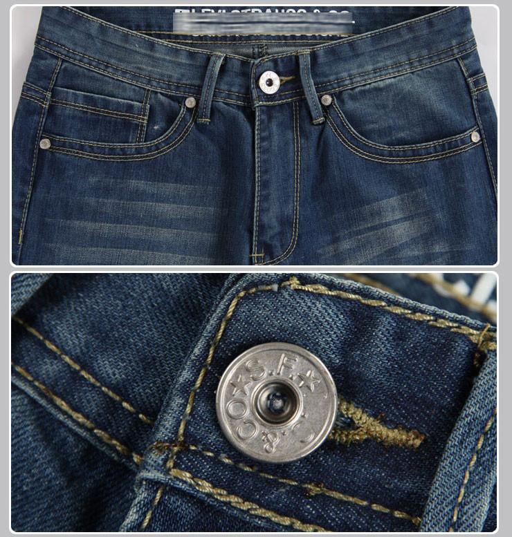 Мужские джинсы Levs Men's Jeans, Straight, Fashion Jeans, Famous Brand Blue Jeans, Denim Jeans + TS8802
