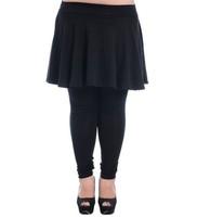 Женские носки и Колготки Fat Women Plus Size Pants Tight elastic waist Korean Female Long Big Size Pants XL-XXXL Black big swing pants