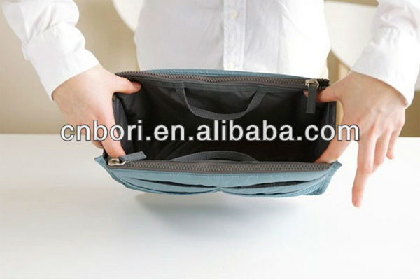 Multifunction olyester hand cosmetic bag personalized hanging cosmetic bag