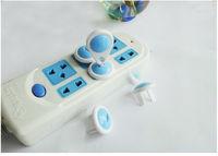Защита детей от электроприборов Plastic Child kids Electrical Proof Cover Plug baby safety lock two pin phase 6pcs/lot