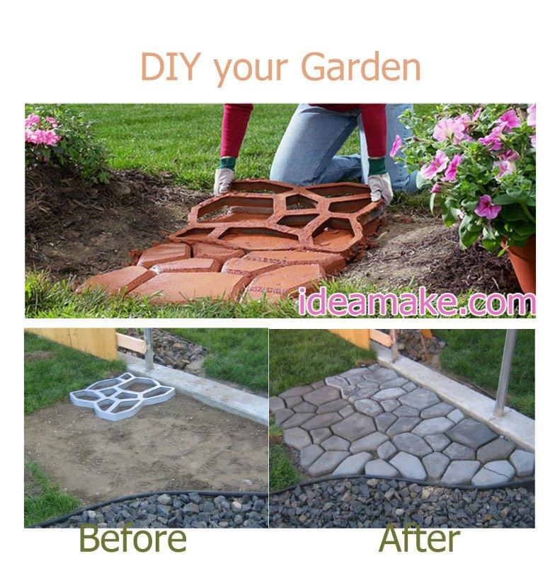 Fontes do jardim diy seu jardim com o pl stico molde paver for Arreglar jardin abandonado