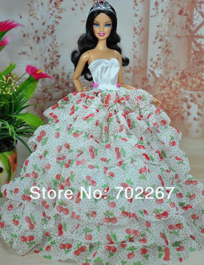 Как сшить пышное платье для кукол барби 171