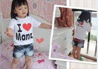 Комплект одежды для девочек So cute baby I love Papa Mama T-shirt. Baby lovely t-shirt, care of your kids