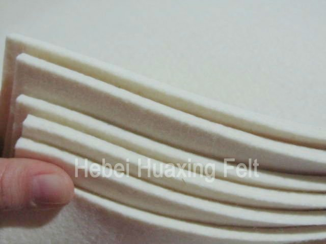 Manufacturer! 100% wool thick felt, white and hard for industry, can be customized