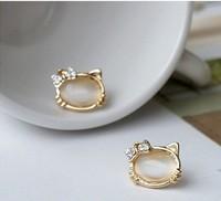 Серьги-гвоздики Fashion Bow cat hello kitty stud earring .! E100
