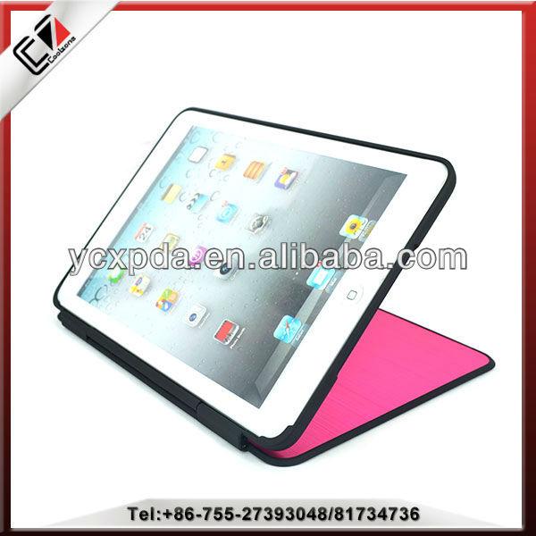 2014 newest design,flip case for iPad mini, PC case cover for mini iPad