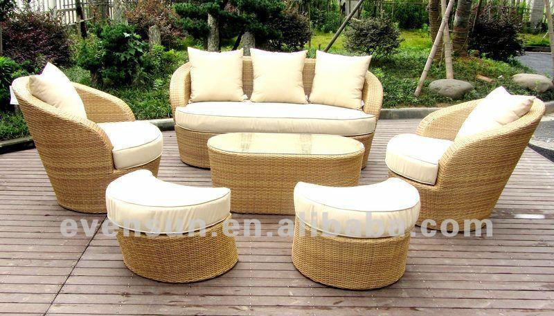 mobiliario de jardim em rattan sintetico:Círculo de vime sofá-Sofás de jardim-ID do produto:619165407