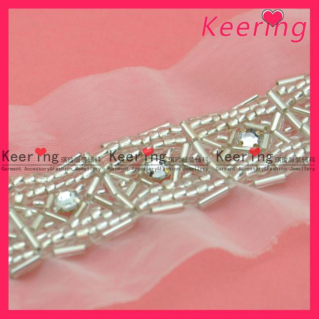 wholesale elegant diamond rhinestone applique trim for dresses WTP-1176