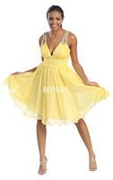 Нарцисс платье до колен v-образным вырезом платья партии
