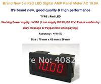 Измеритель величины тока 3 1/2 Red LED Digital AMP Panel Meter + Shunt AC 20A