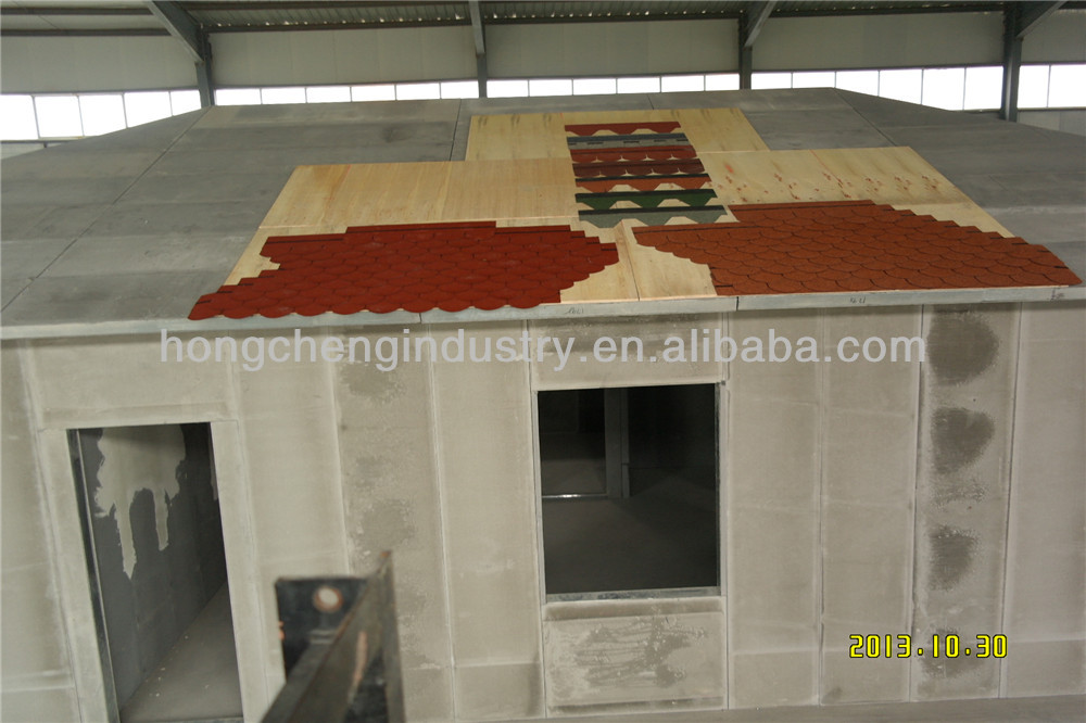 2013 Strong and cheap foaming concrete prefabricated house and villa