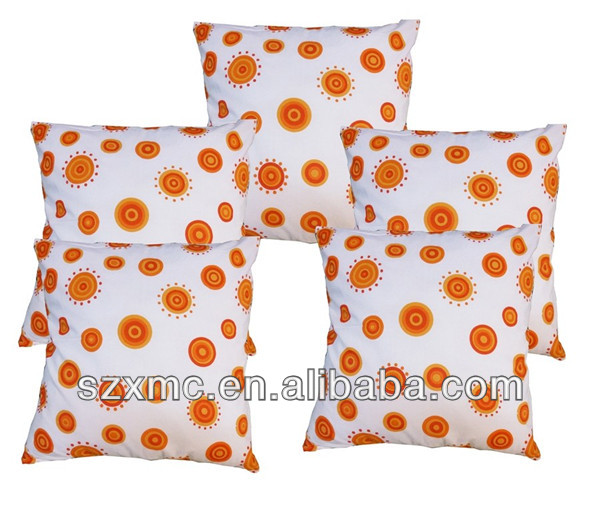 wholesale dot elegant pillow case couch cushion cover canvas customed pillow case