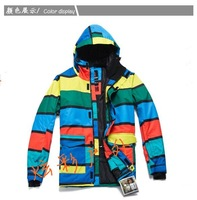 Free shipping 2011 men snowboarding jacket lightweight skiing clothing men ski suit skiwear waterproof anorak parka 3 colors