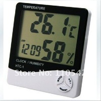 Free Shipping, 3 in 1 Thermometer,hygrometer,Clock,Calendar,Digital Home Indoor Temperature Humidity Meter, LCD Display
