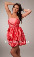 Платье для выпускниц Top Sale Newly Designed Taffeta Hot Pink Short Strapless Clearance Homecoming Dresses
