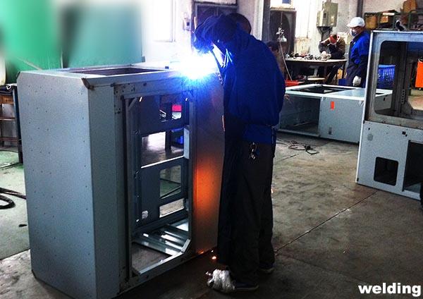 Custom Aluminium Box Enclosure CNC Punched Out CNC Bent Up Sides TIG Welded Dongguan China Factory