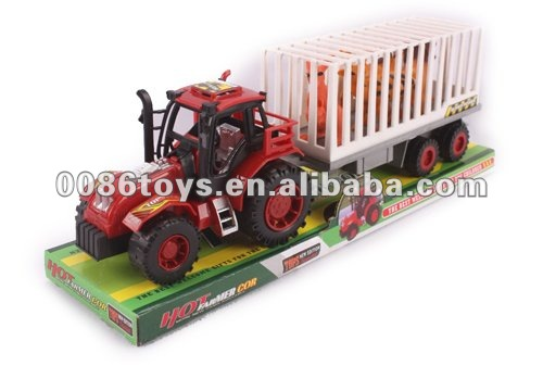 32 CM Tow 2 Chicken Farmer Car