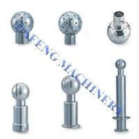 Sanitary stainless steel CIP rotary spray ball