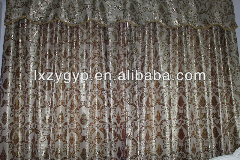 polyester waterproof royal jacquard curtain,bead curtain fabric