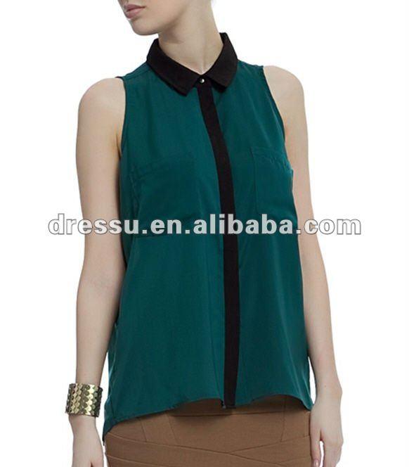 Nueva moda de ropa, las mujeres blusa de gasa 2012
