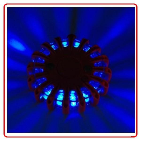 Grátis frete 9 em 1 16 Led Red recarregável Led poder Flares