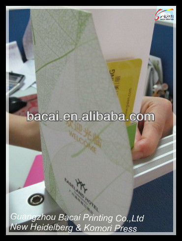 Customized Hotel Room Card Paper Holder