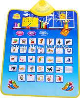 Обучающий компьютер для детей Russian toy Russian pronunciation children multifunctional music game carpet environmental sound chart