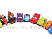 NEW 12 PCS Pixar CARS 2 Figures Lightning McQueen Sally Mater Guido Wholesale and Retail