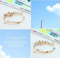 Браслет 442 national wind exotic Austrian crystal color full Rhinestone the peacock bracelet Korean jewelry