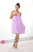2012 new wiping a bosom lovely type leisure lady bath skirt hairdresser overalls bathrobe beauty take multiple color