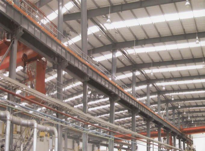 Pr fabriqu e structure en acier entrep t construction hangar usine acie - Cout construction hangar ...