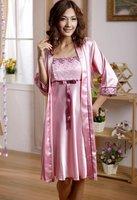 Spring and summer anti-silk suspenders pajamas tracksuit
