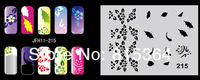 Beautiful Design Airbrush Nail Art Paint Stencil Kit Design Set MJ-009