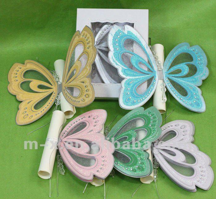 Tarjetas de invitación en forma de mariposa - Imagui