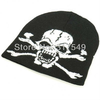 Шапка для мальчиков Beanie, Skull Face, Screen printed, Cap, Hat, Knit, Black Ski, Snowboard, Winter