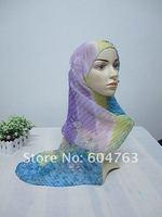 Женские шарфы, Шапки, Комплекты S060 Fashion silk long muslim scarf; islamic turban