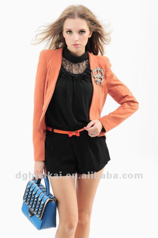 chaquetas de otoño para las mujeres de alta calidad de estilo europeo de la  moda de