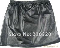 Женская юбка 2pcs/lot Hot Sexy Woman Joker Copy Skin Tight Render Short Mini Imitation Leather Skirt